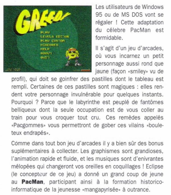 Article Turbo Soft de juilllet 1996